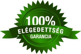 100% megelégedettségi garanciát vállalunk!